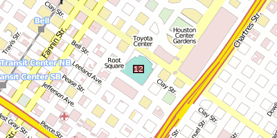 Toyota Center Stadtplan